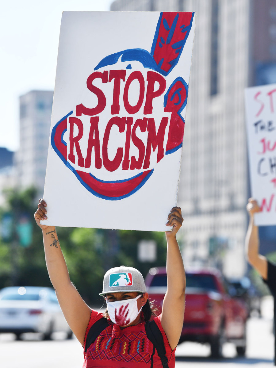 Cleveland baseball protest