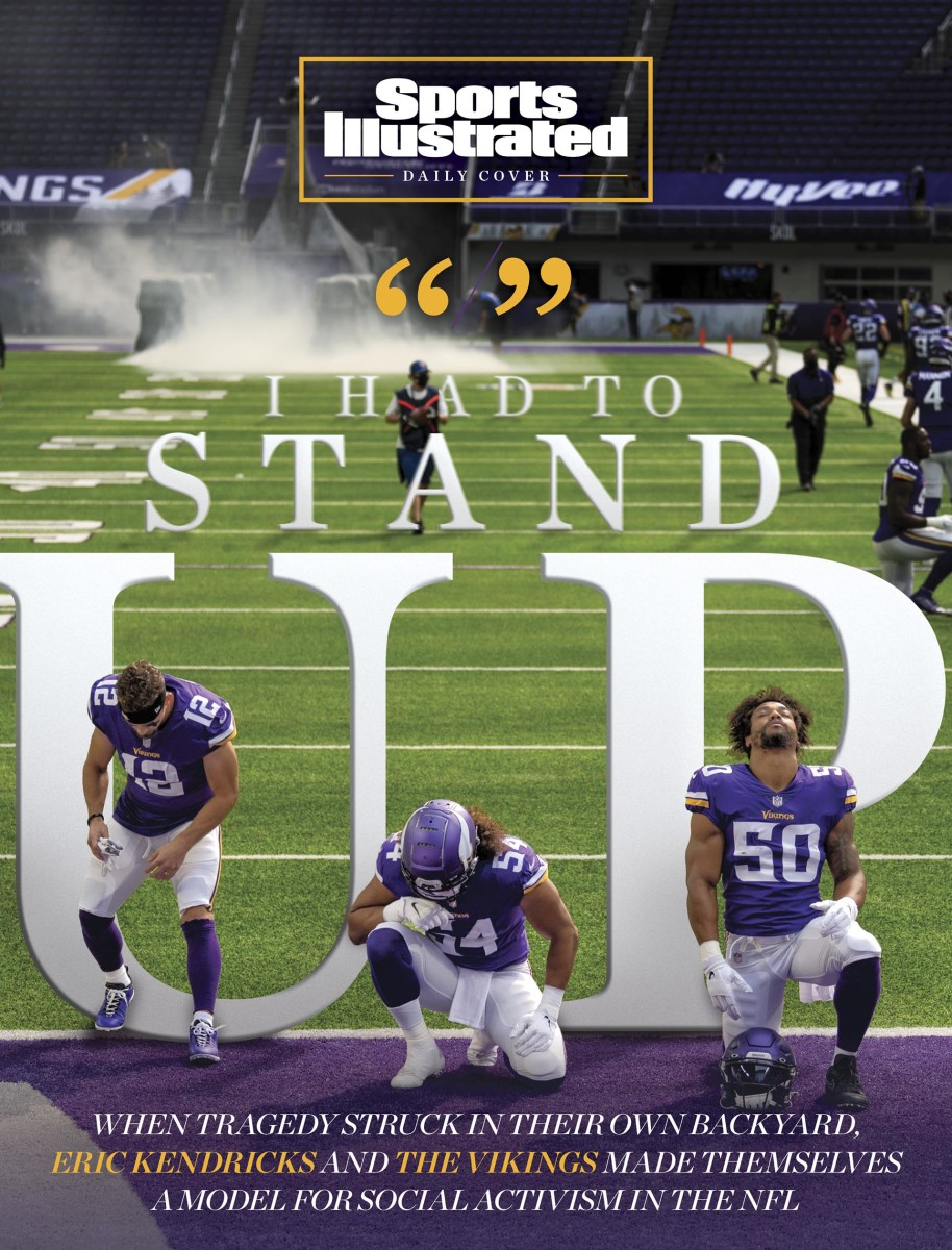 Daily cover of the Minnesota Vikings social activism