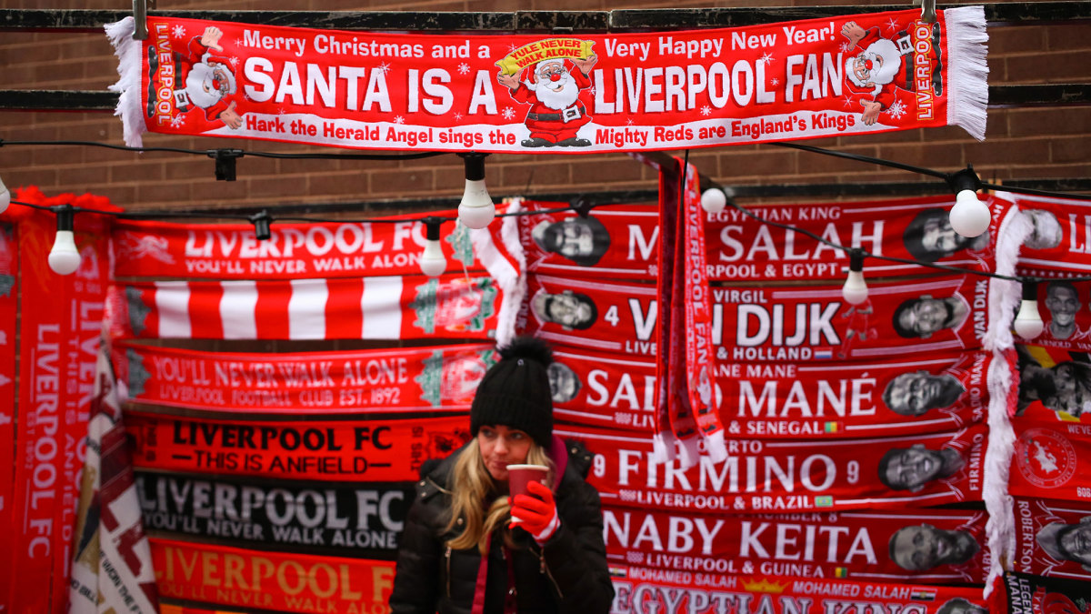 Liverpool is in first place entering the festive season