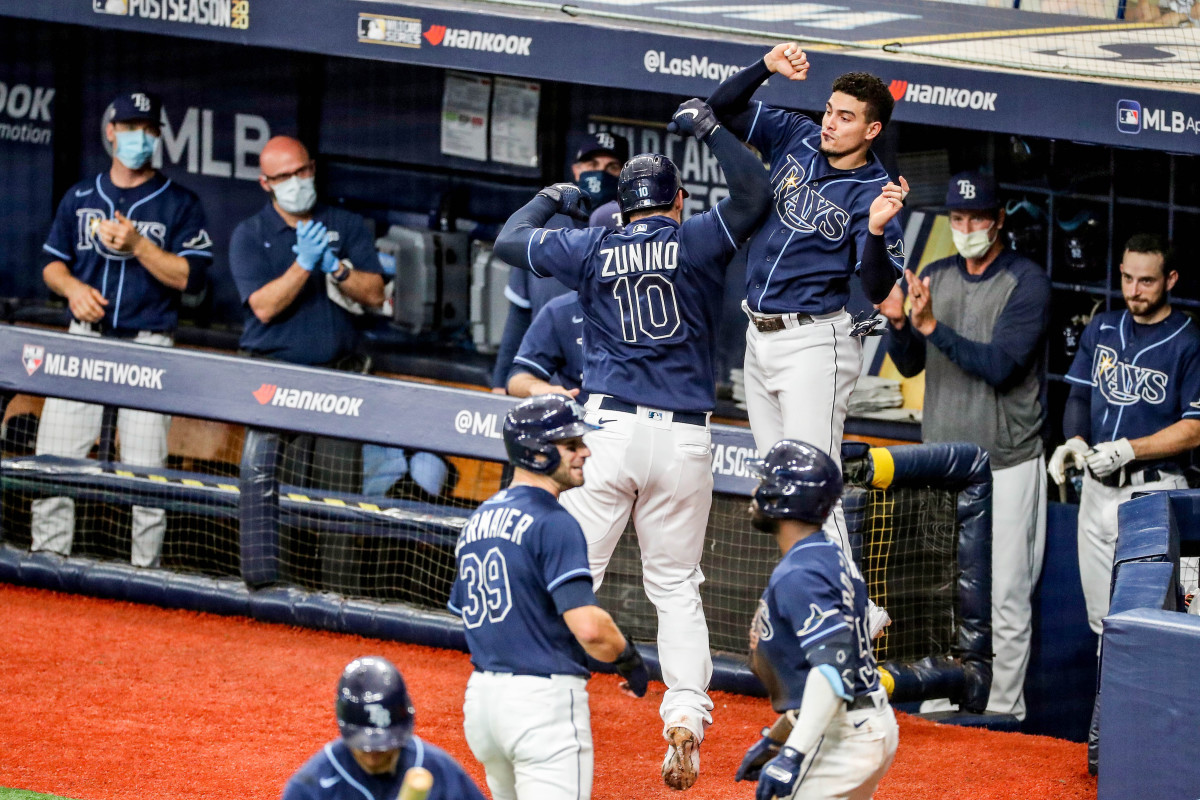 As they marched to the World Series, the Rays had to get creative with their celebrations—Silly String replaced champagne and dance-offs subbed in for dog piles.