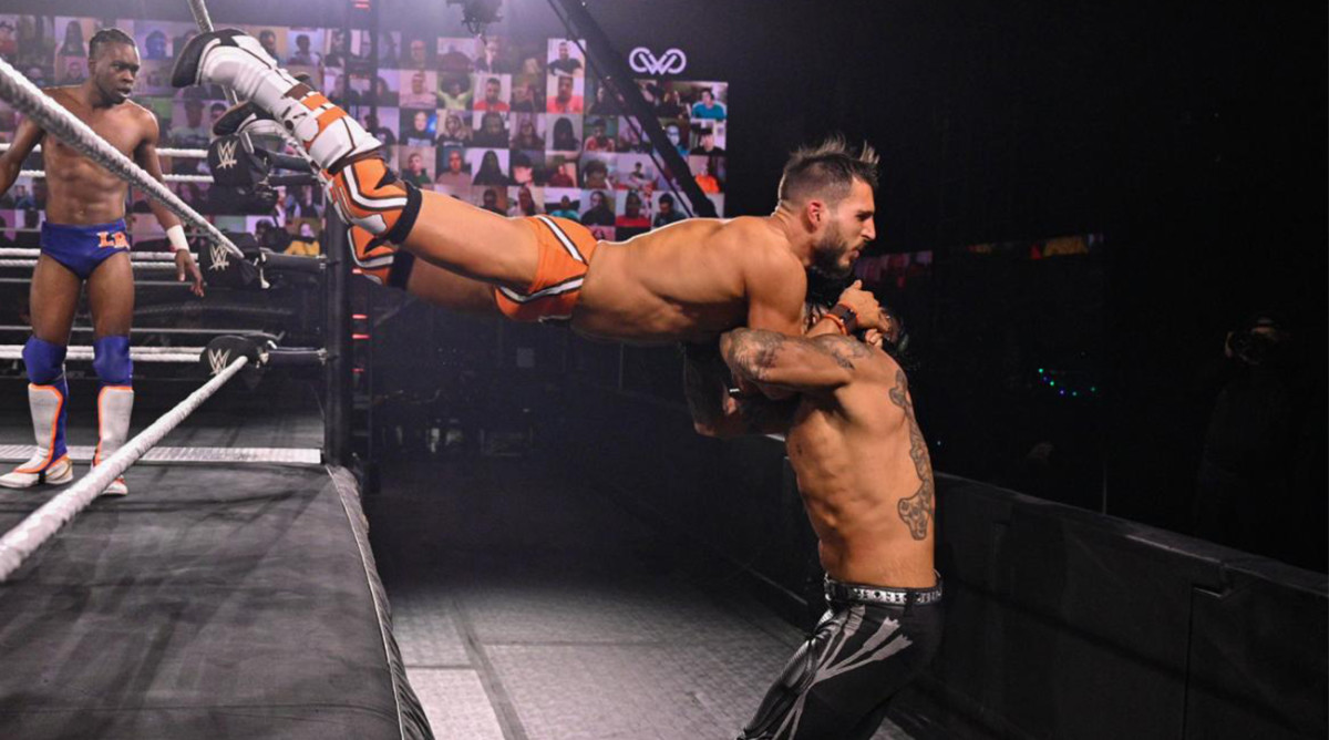 Johnny Gargano used his attire to celebrate the Cleveland Browns' playoff-bound 2020 season.