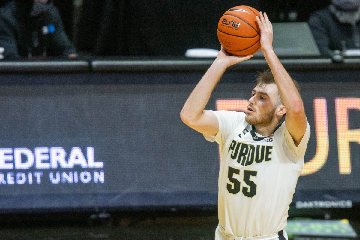 Purdue's Sasha Stefanovic is one of only two players in the country with 25 or more three-pointers and assists. (USA TODAY Sports)