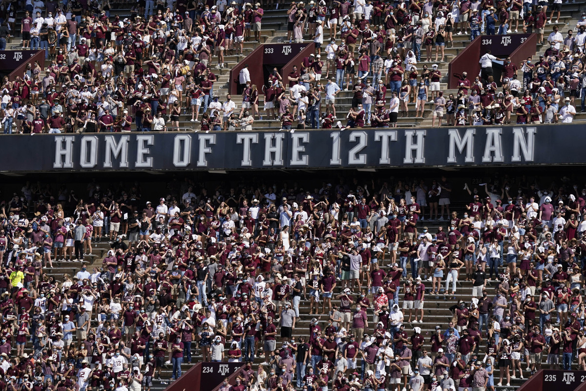 A&M's take on social distancing—24,000 fans, many with little separation—left Mullen envious.