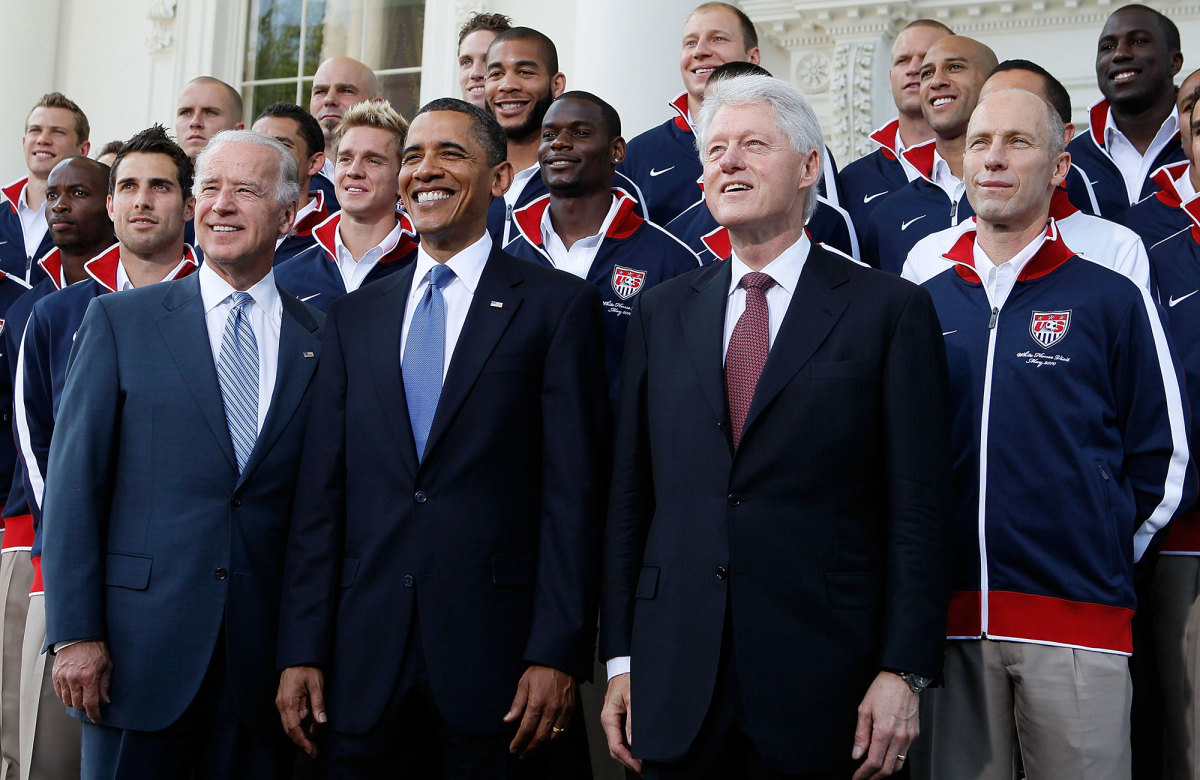 Joe Biden at the White House with the 2010 USMNT World Cup team