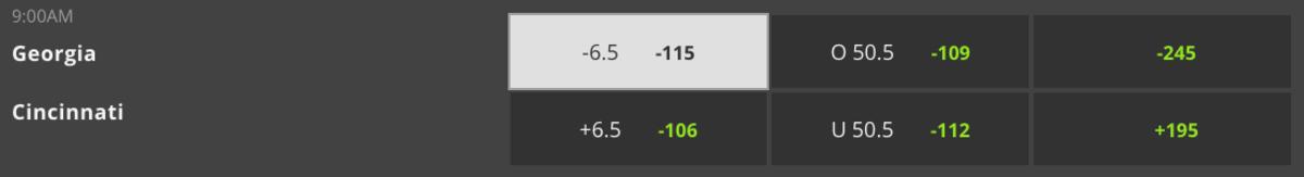 Odds melalui DraftKings Sportsbook - Waktu Pertandingan 12:00 p.m. ET