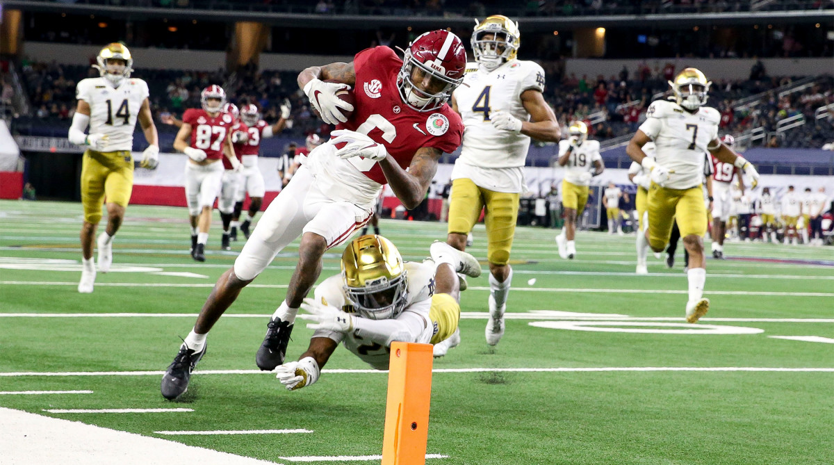 DeVonta Smith ties SEC, Rose Bowl records for receiving TDs thumbnail