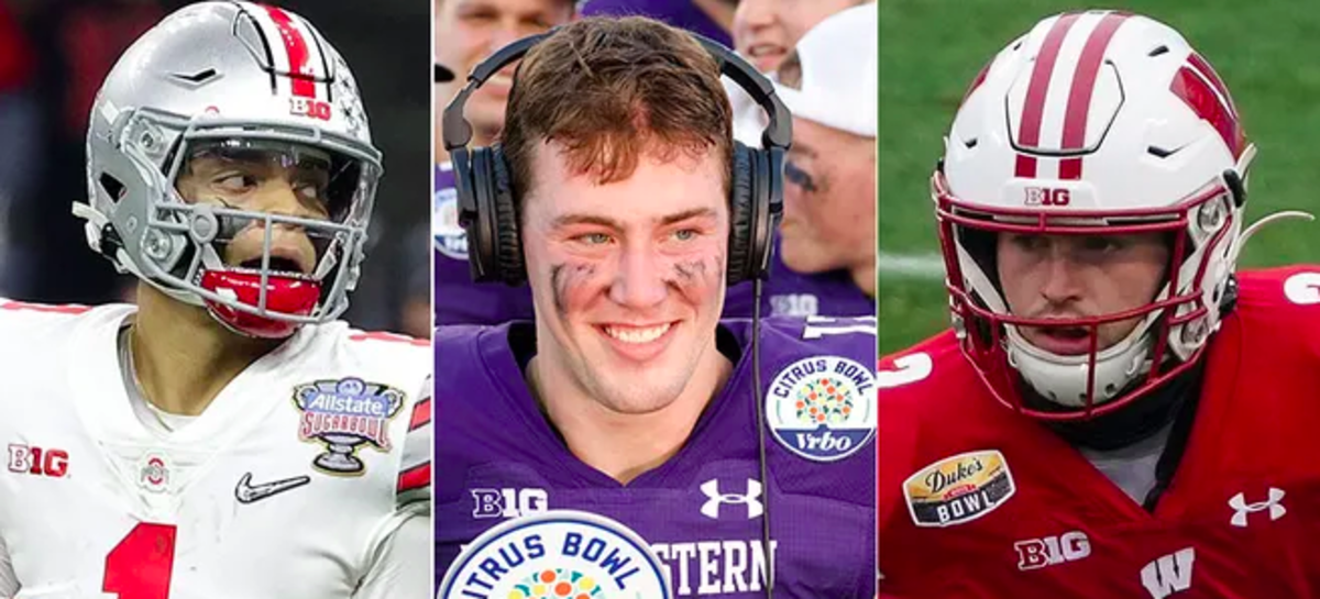The other Big Ten teams put their bowl-game logos above their others. (USA TODAY photos)