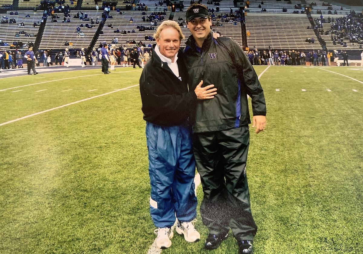 In 2013, John Featherstone visited then-Washington coach Steve Sarkisian in Seattle.