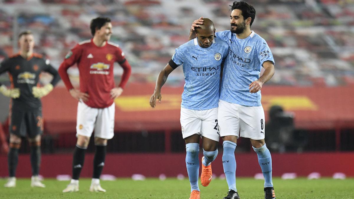 Man City beats Man United to reach the League Cup final