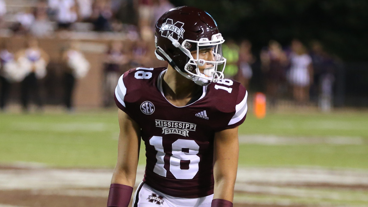 Wide receiver Cameron Gardner has announced his plans to seek a transfer from Mississippi State. (Photo courtesy of Mississippi State athletics)