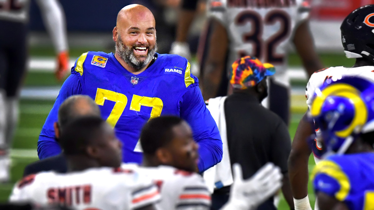 Rams OT Andrew Whitworth smiles after victory over Bears