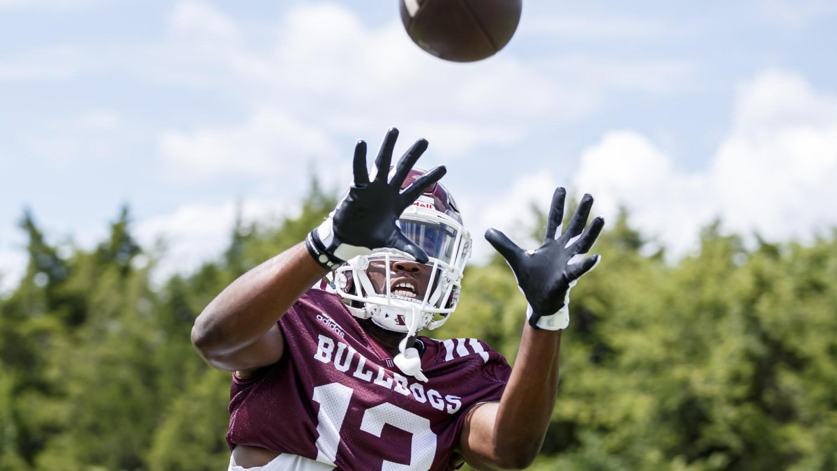 Mississippi State receiver Kyziah Pruitt has entered the NCAA transfer portal. (Photo courtesy of Mississippi State athletics)