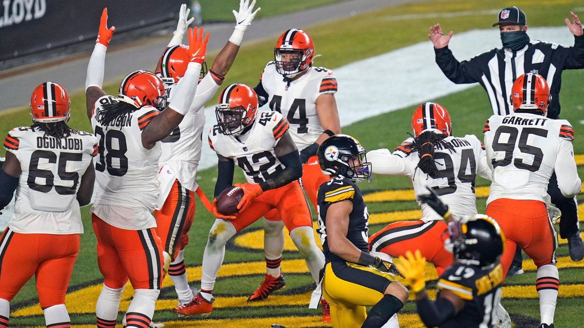 Despite playing with their offensive line and coaching staff depleted, the Browns jumped on the Steelers early and often in the wild card game.