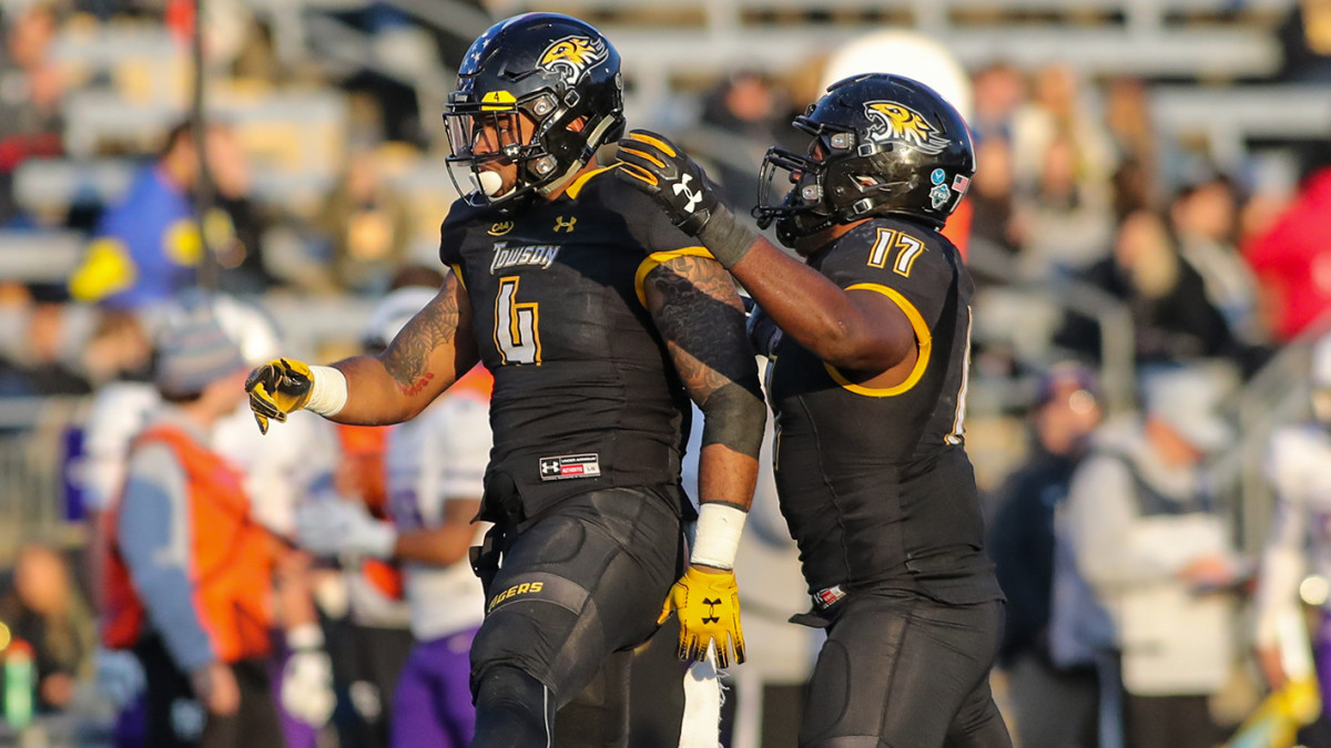 Ricky DeBerry (left) at Towson
