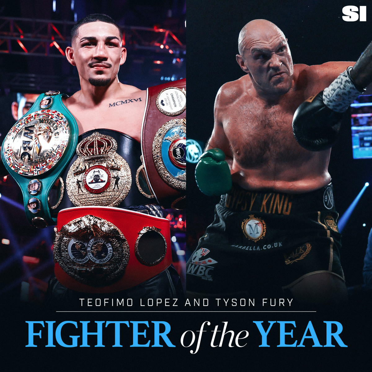 Teofimo Lopez and Tyson Fury share Sports Illustrated's Fighter of the Year honor.