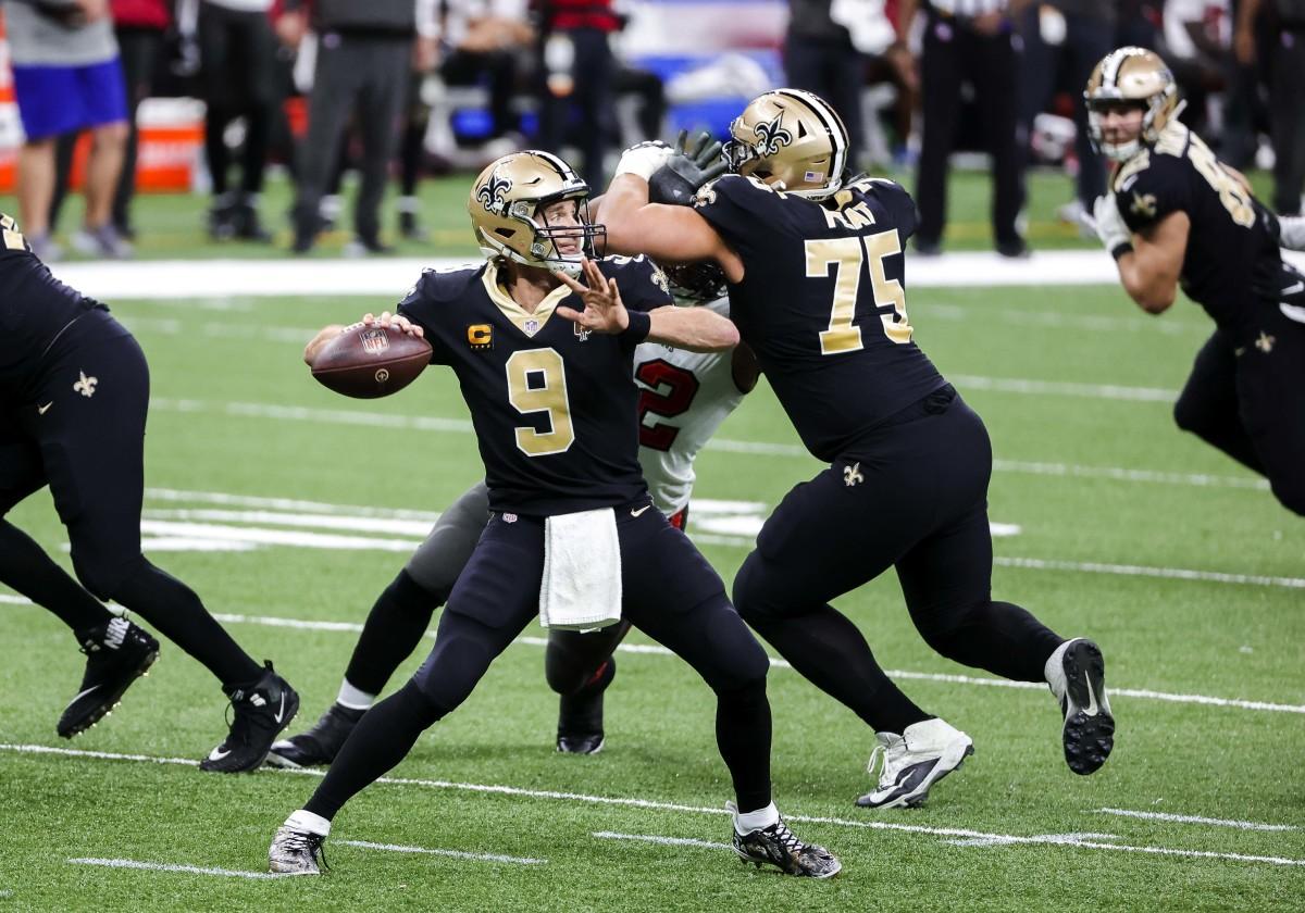 New Orleans Saints QB Drew Brees vs. Tampa Bay Bucs
