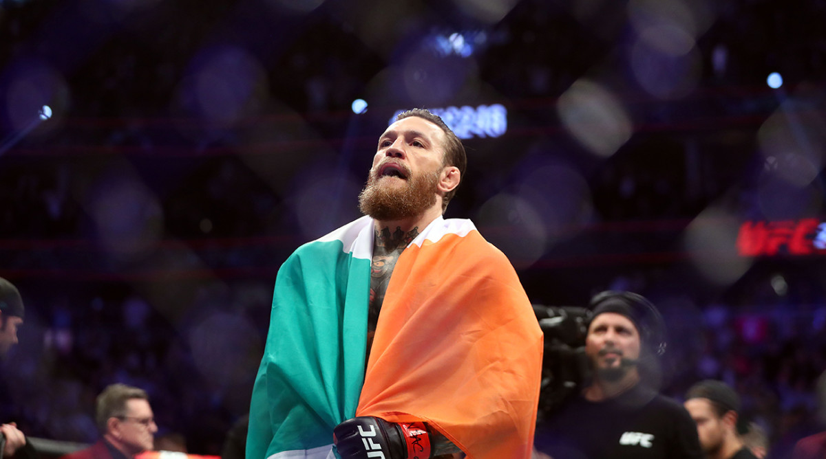 Conor McGregor after defeating Donald Cerrone at UFC 246