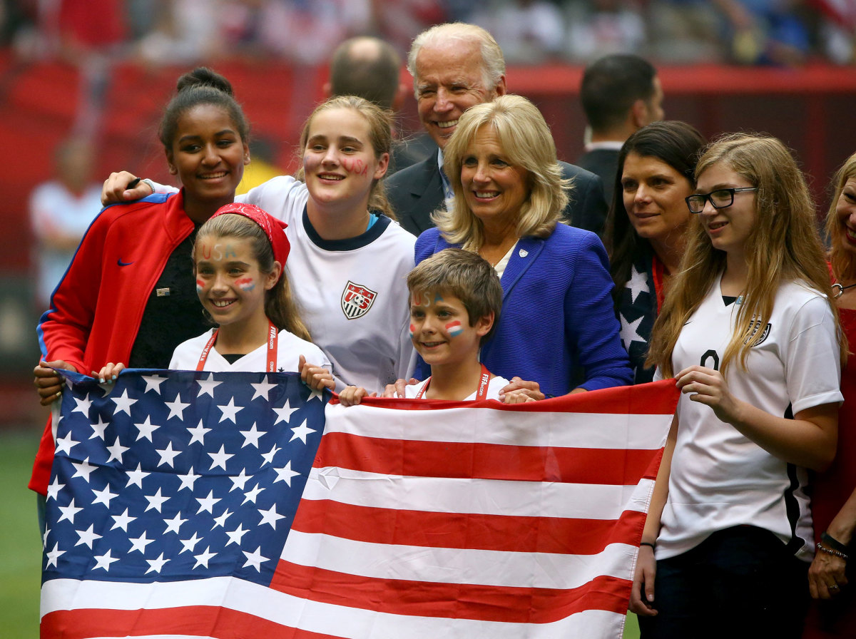 The Bidens at the 2015 Women's World Cup final