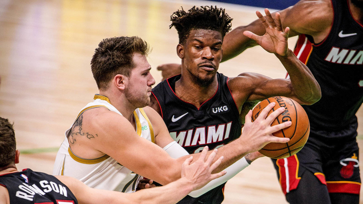 Jimmy Butler and Luka Doncic