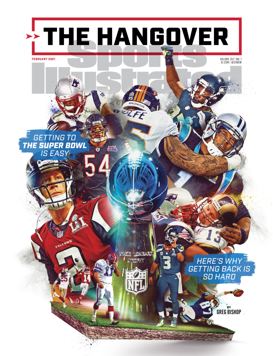 Sports Illustrated February cover: teams that have lost the Super Bowl