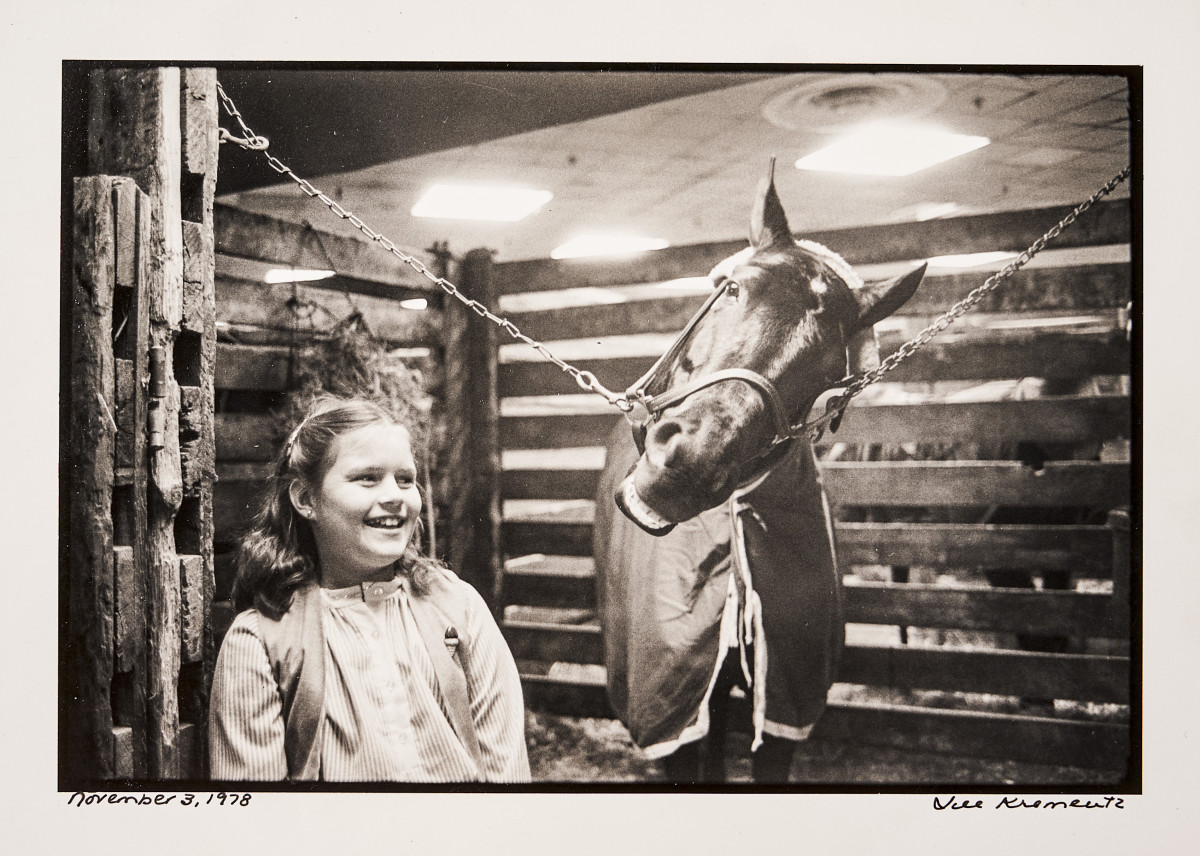 Ax stayed close to the track, and to his daughter—which often placed young Megan in equine company.