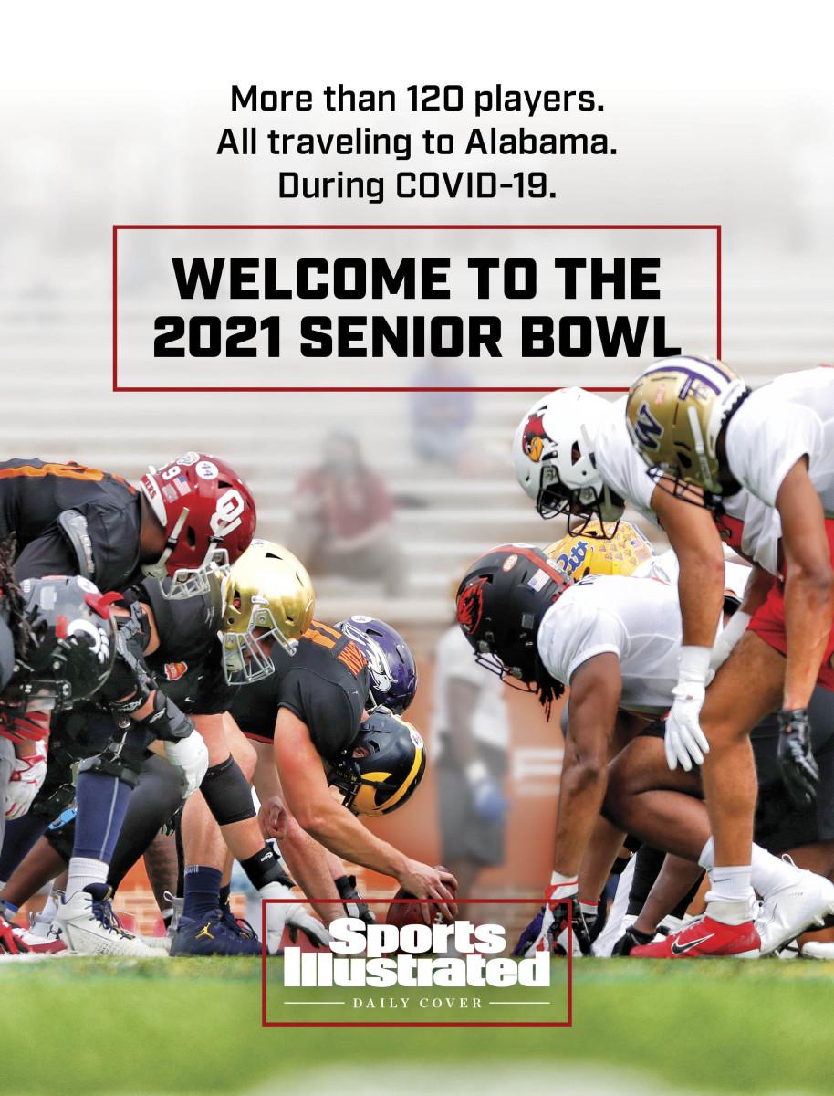 2021 Senior Bowl practice during COVID pandemic