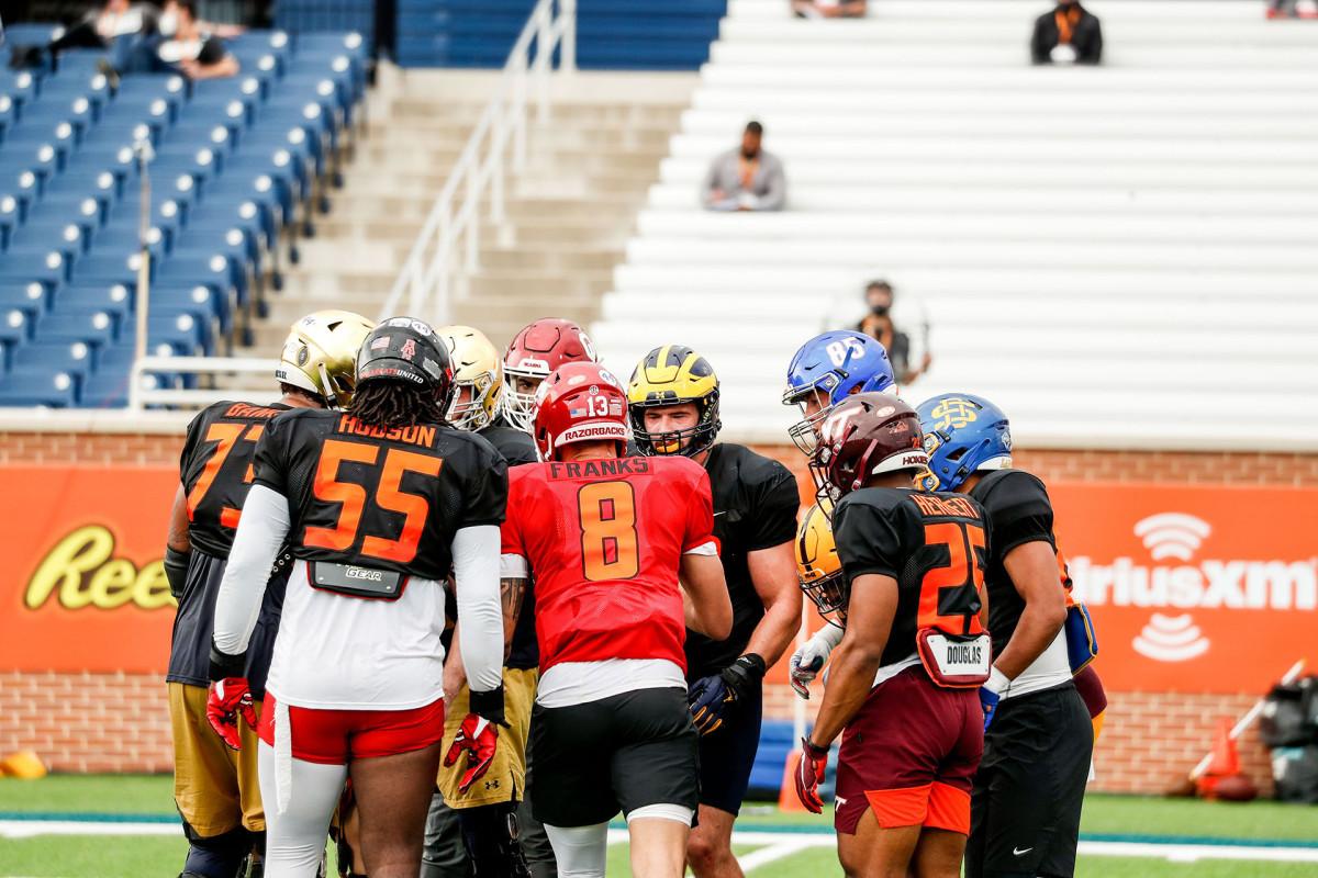 Senior Bowl 2021 practice