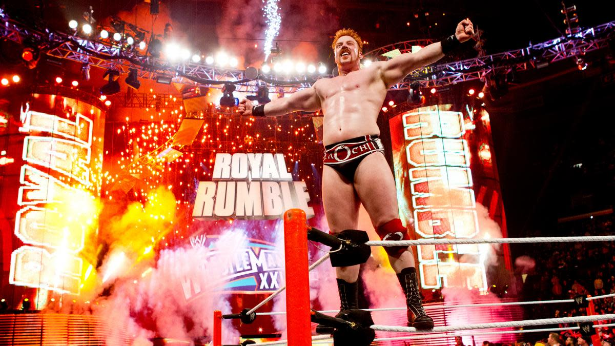 Sheamus after winning the Royal Rumble