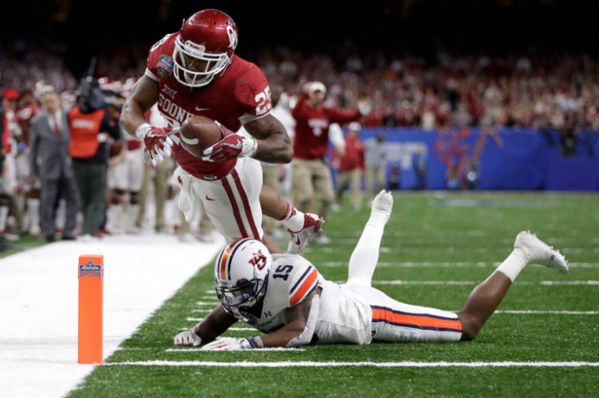 Joe Mixon exploded in the Sugar Bowl, rushing for 101 yards and two touchdowns against Auburn, and added another 89 receiving yards.