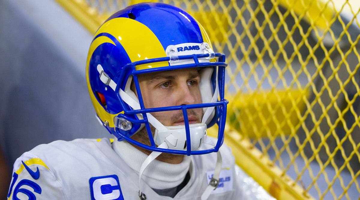Jared Goff before playing the Green Bay Packers