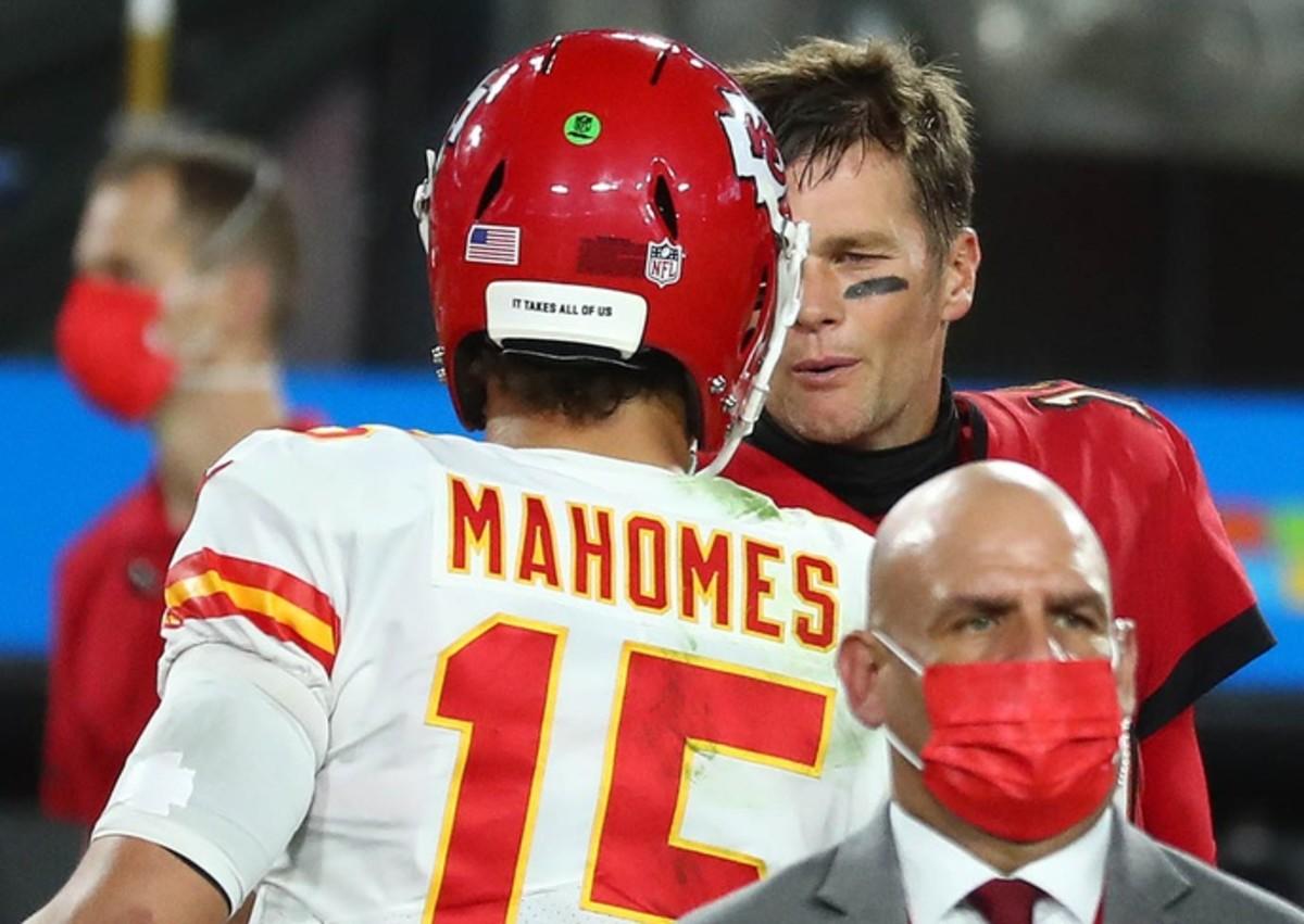 Super Bowl Quarterbacks - Patrick Mahomes and Tom Brady