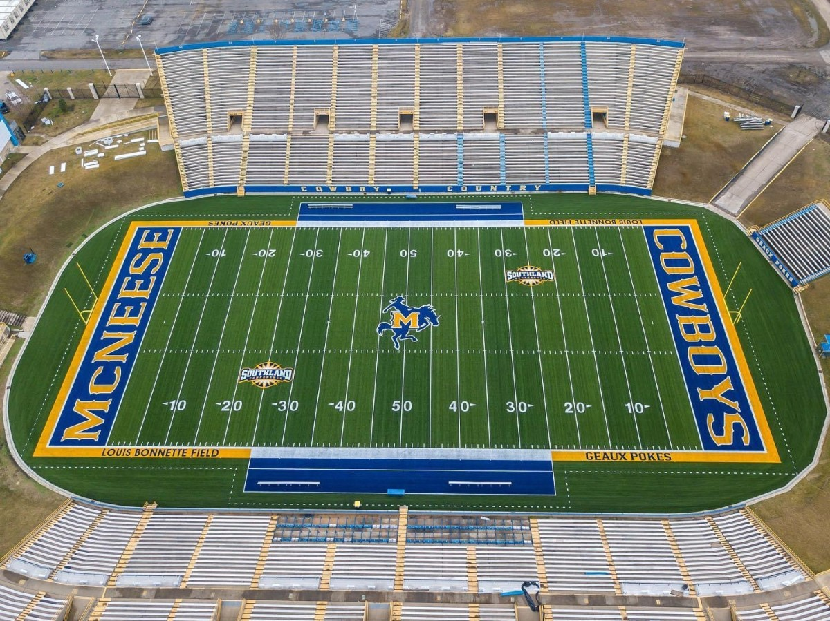 The McNeese Football Stadium after renovations