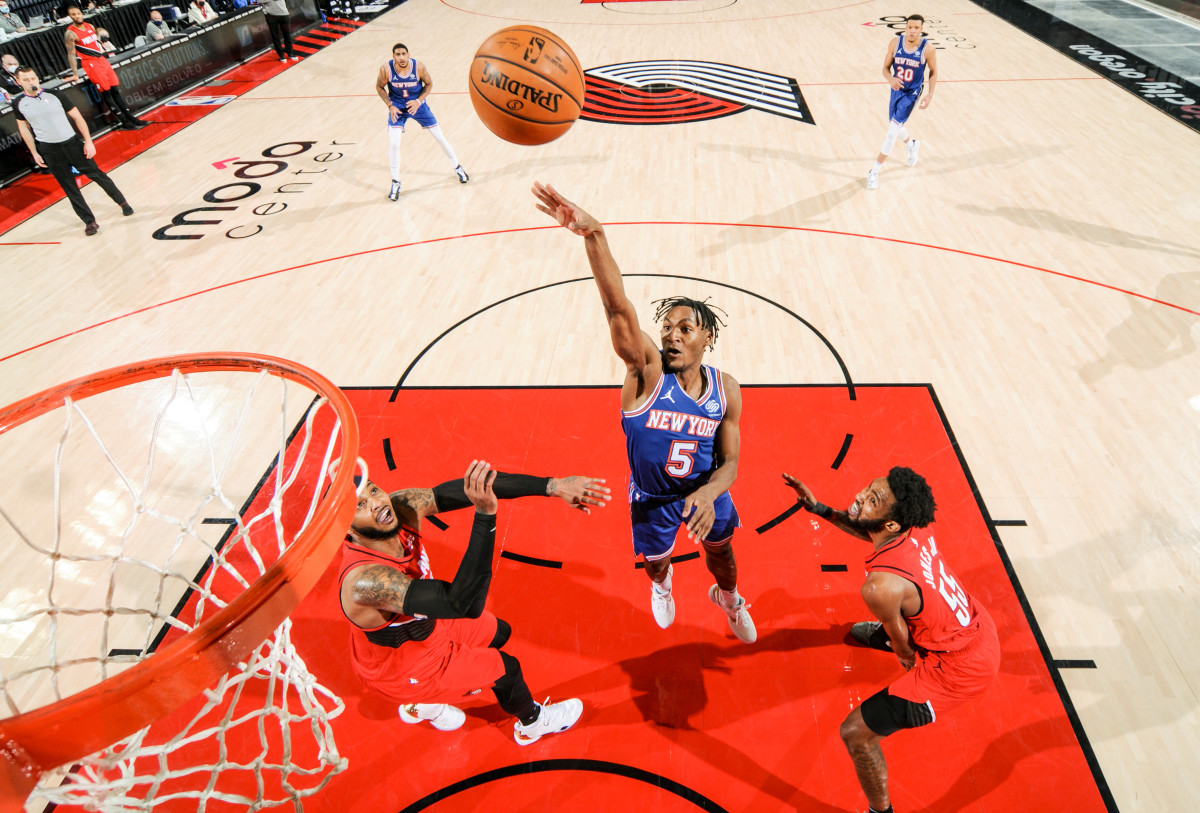 Quickley has mesmerized and tantalized fans with his crafty pick-and-roll game, his heads-up playmaking and his silky midrange floater.