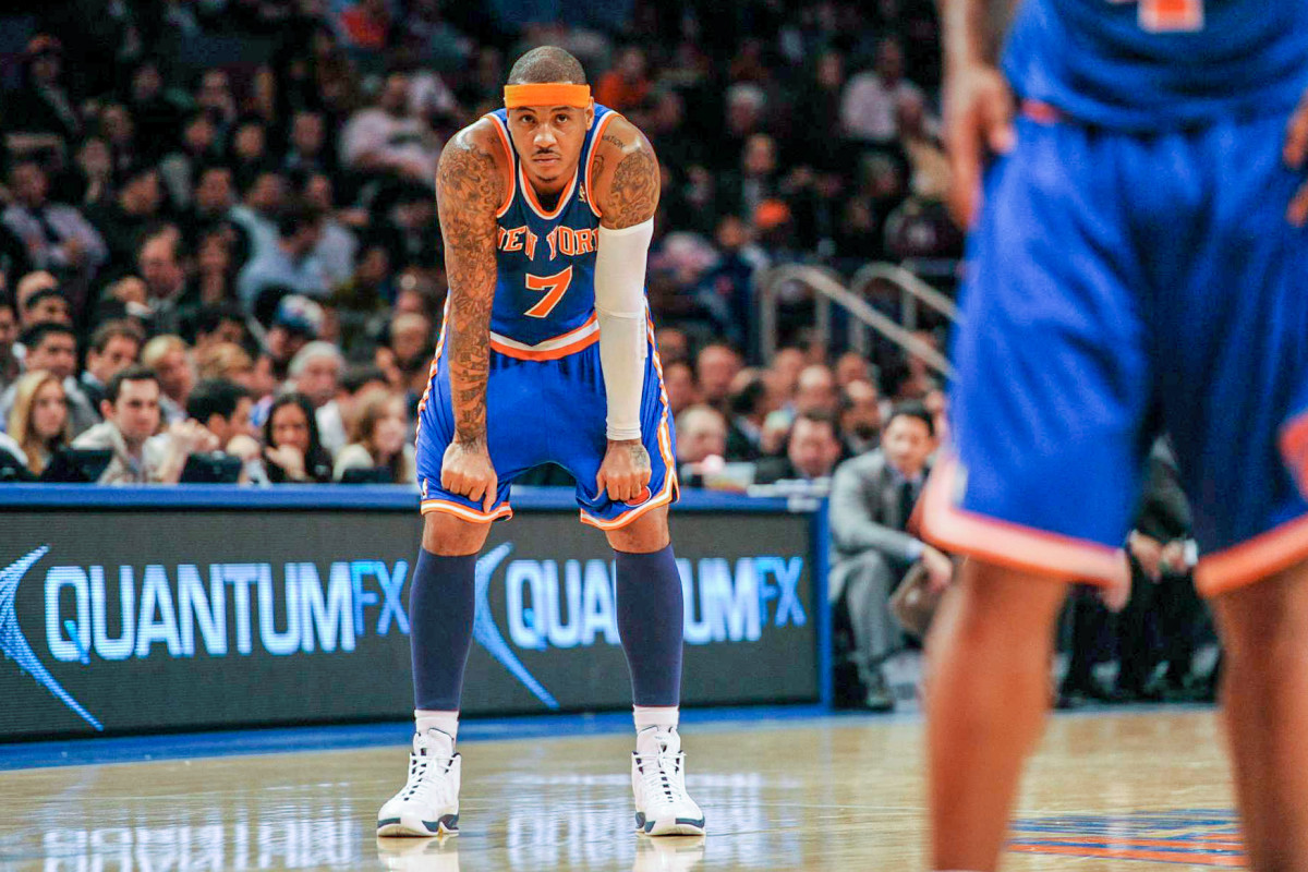 For Desus, the past decade is summed up by a slumped, frustrated Melo.