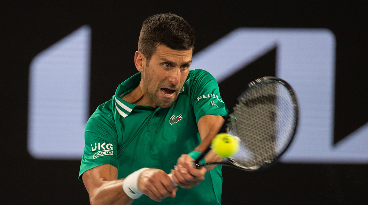 Novak Djokovic Says He Has Muscle Tear and Is Unsure Whether He'll Continue at Australian Open - Sports Illustrated