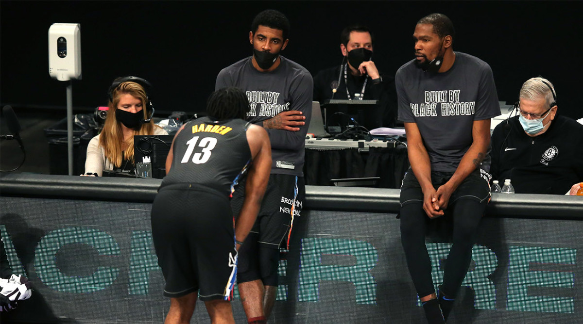 Kyrie Irving to James Harden: 'You're the Point Guard' - Sports Illustrated