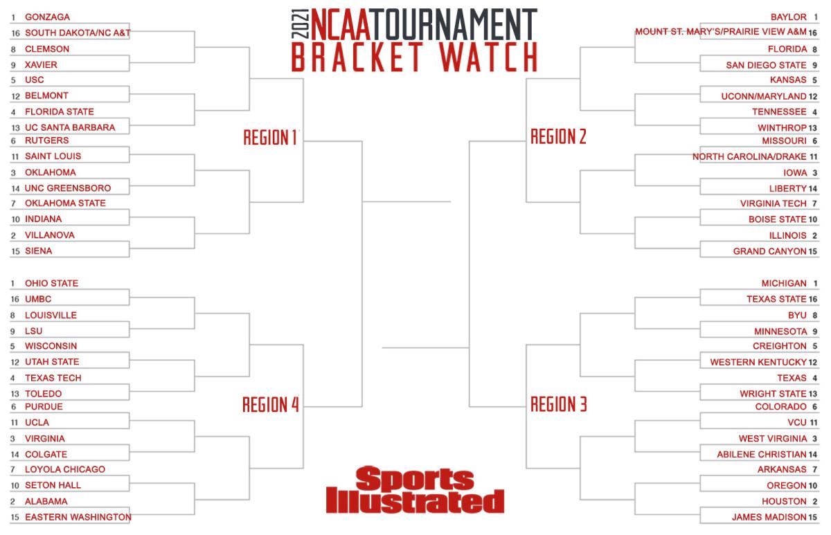 Feb. 16 NCAA tournament bracket