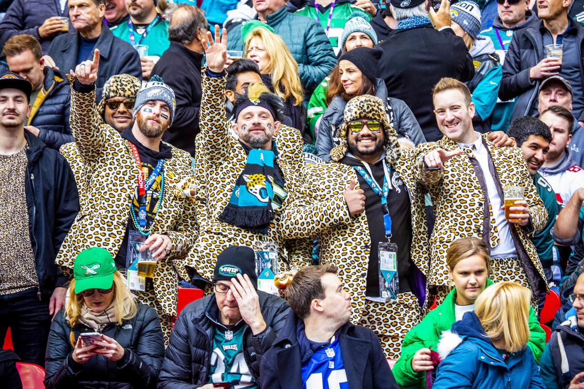 Jaguars fans at a game in London