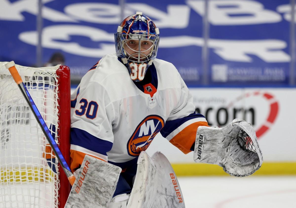 Ilya Sorokin. Photo by Timothy T. Ludwig-USA TODAY Sports