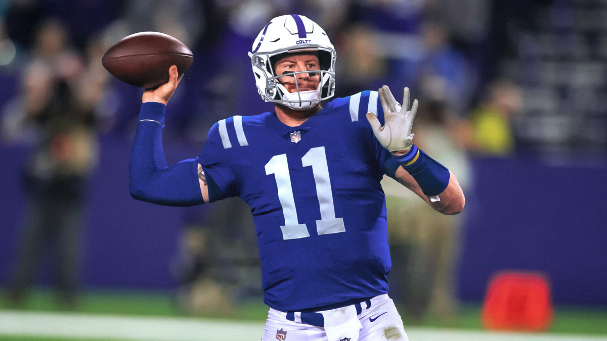 Carson Wentz in a Colts uniform