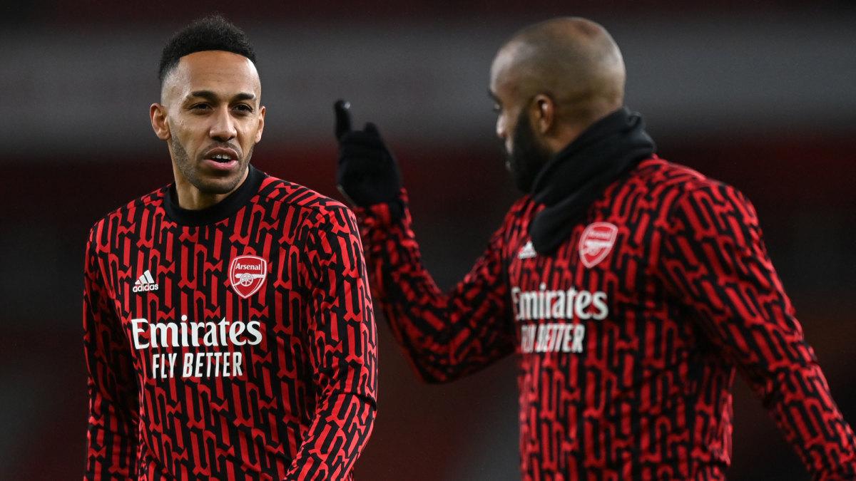 Arsenal's Pierre-Emerick Aubameyang and Alexandre Lacazette