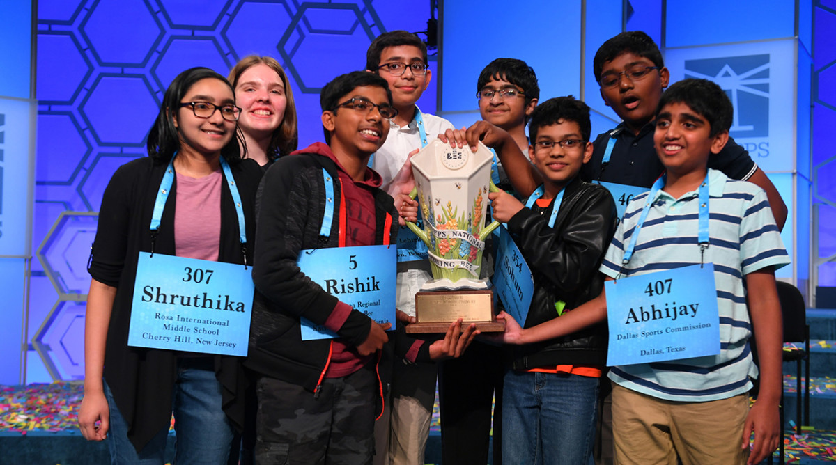 The 2019 Scripps National Spelling Bee ended in an eight-way tie