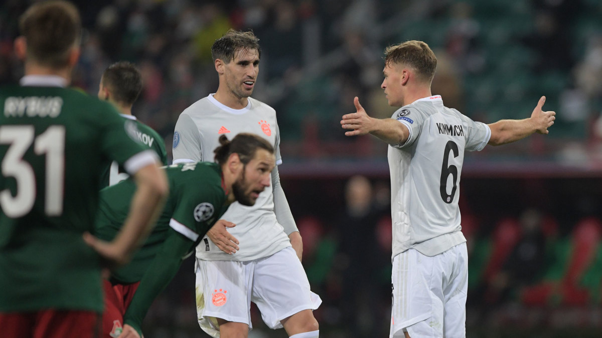 Joshua Kimmich scores vs. Lokomotiv Moscow in Champions League