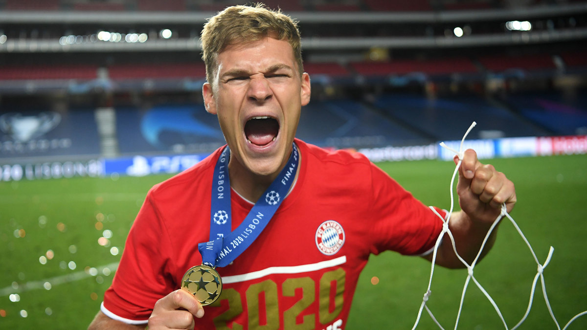 Joshua Kimmich after Bayern Munich's Champions League title