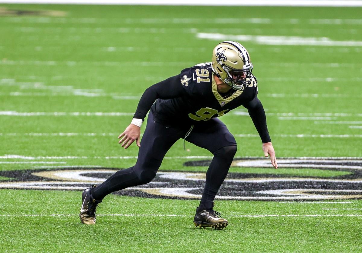 New Orleans Saints defensive end Trey Hendrickson (91) Mandatory Credit: Derick E. Hingle-USA TODAY