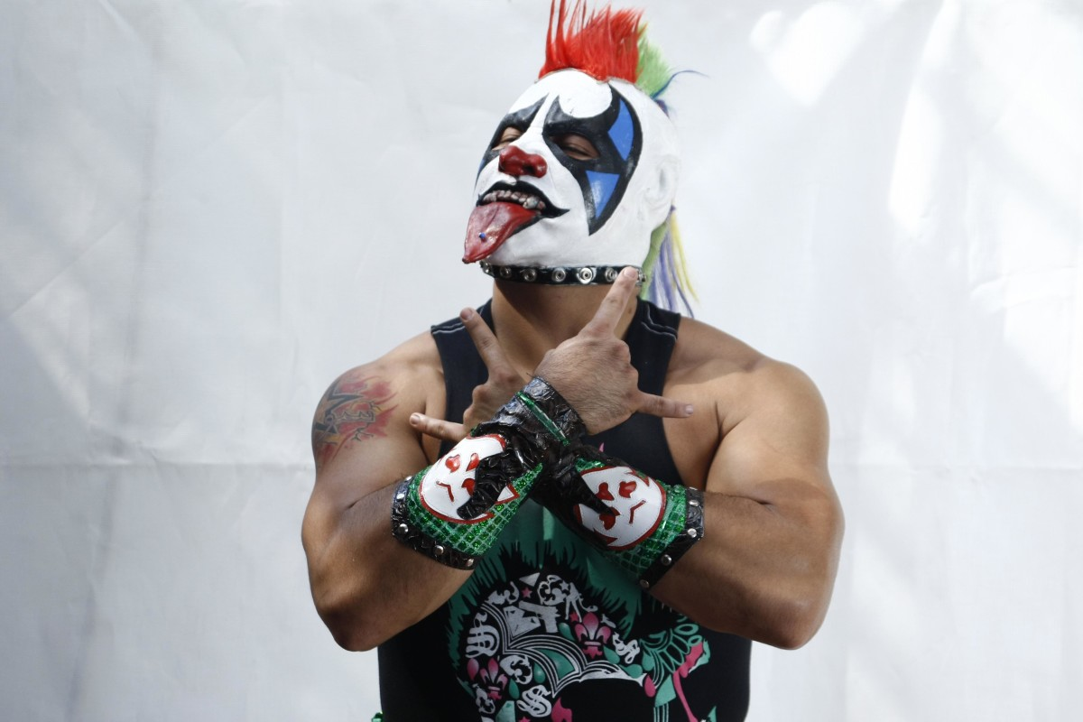 Portrait of Mexican luchador Psycho Clown