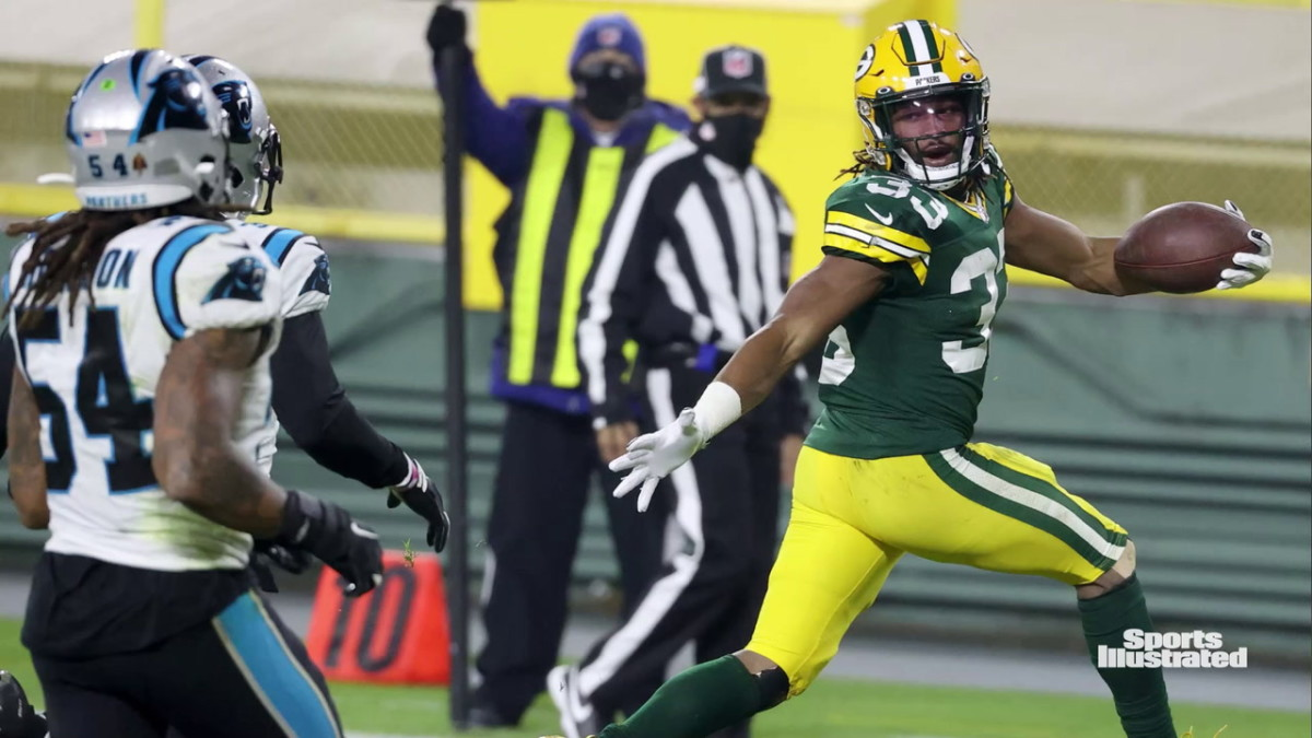 Aaron Jones ranks second in the NFL with 30 touchdowns the past two seasons. (Getty Images)