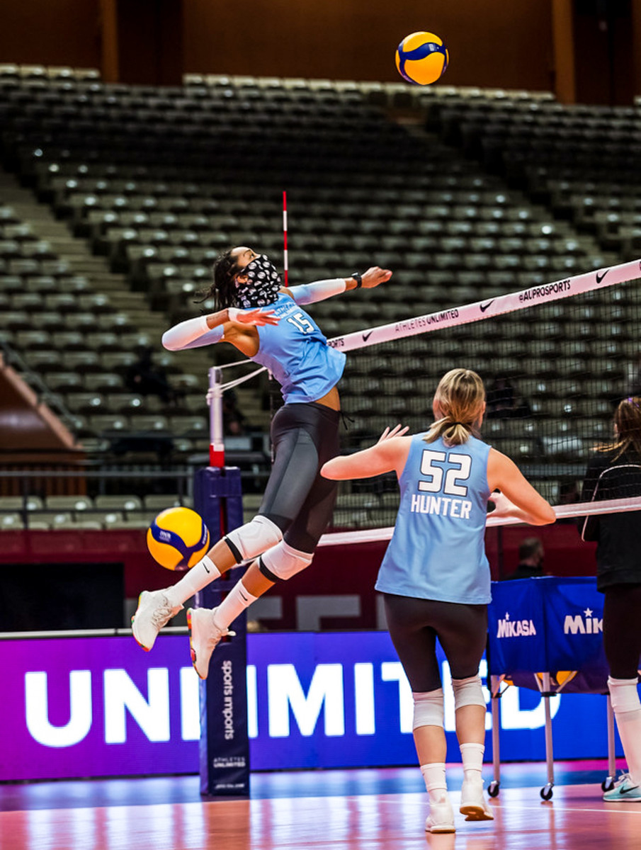 Up next for Athletes Unlimited, starting Saturday: women's volleyball.