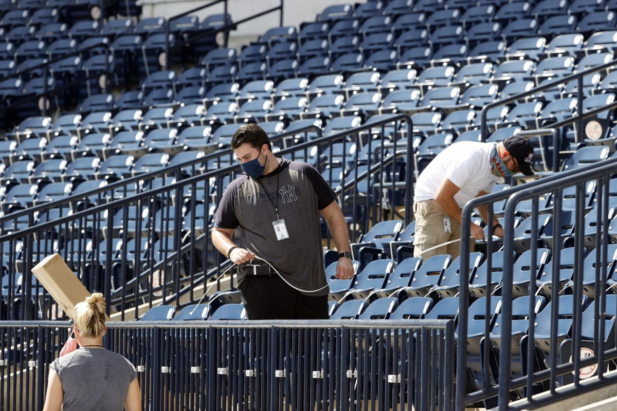 Zip ties installed at George M. Steinbrenner Field
