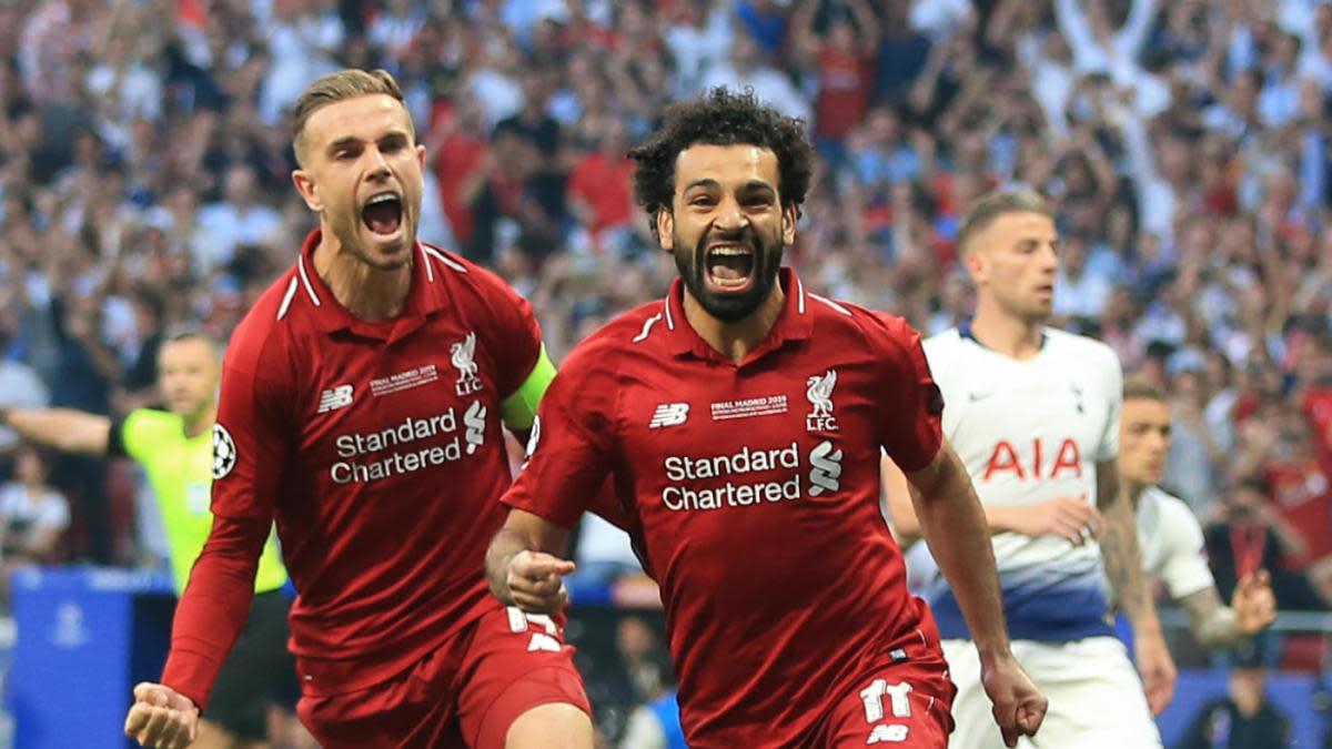 Salah and Henderson Liverpool Celebration